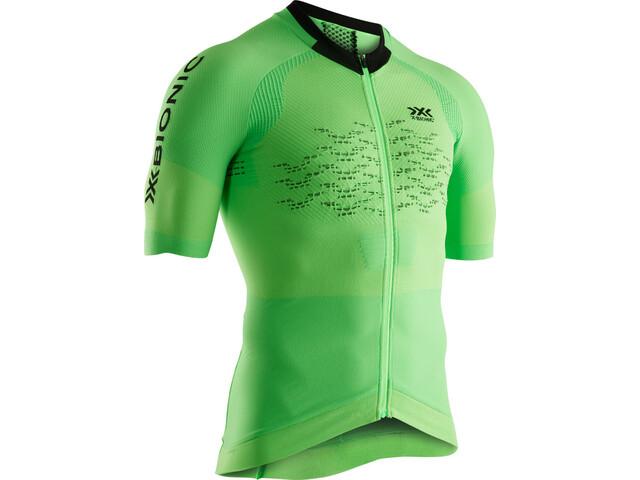 X-Bionic The Trick G2 Maillot de cyclisme Manches courtes Zip Homme, amazonas green/opal black